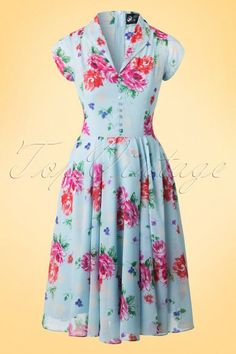 Bunny Blue Floral Bloomsburry Dress 102 39 18248 20160304 0004WA