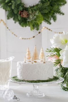 A coconut cake from @EVINELive and a Charming Holiday Dessert Bar!