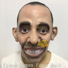 Hot!!!Halloween Party Cosplay Costume Realistic Latex Celebrity Mask Donald Trump/Obama/Mr.Bean/Putin Head Mask Full Head Man