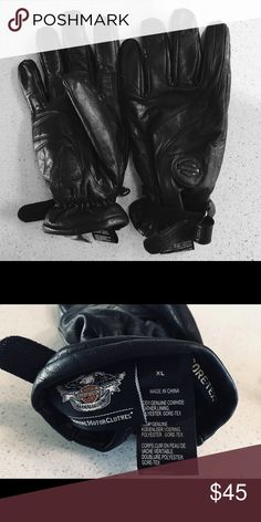Harley Davidson Leather Riding Gloves Motorcycle leather gloves. Used but excellent condition Harley-Davidson Accessories Gloves