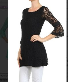 Black Lace Top - #blondellamydean #plussizefashion #plussize #curves