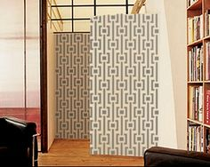 Modern Pattern Stencils, wallpaper look without the wall paper