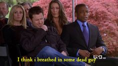 I think I breathed in some dead guy. Psych Memes, Psych Quotes, Psych Tv, Carlton Lassiter, Real Detective, James Roday, Shawn Spencer, I Know You Know, Great Tv Shows