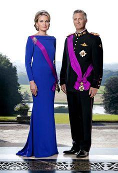 S.M. le Roi Philippe et S.M. la Reine Mathilde des Belges (2013 - ).