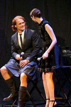 """Do ye not know that, Sassenach?"" — Writer Diana Gabaldon on Sam Heughan & Caitriona..."