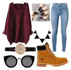 """""""outfit"""" by ellie-handibode ❤ liked on Polyvore featuring Timberland, Quay and Barbour"""