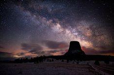 Milky Way over Devil's Tower