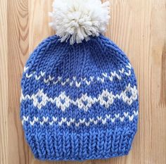 Woolly hat bobble hat fair isle hat secret santa by Sarahnicknicks