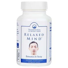 Relaxed Mind - Organic Ayurvedic Relaxation Stress Relief Formula- NON-GMO & Vegan Ayurvedic Herbs, Ayurveda, Ayurvedic Products, Supplements For Anxiety, Mind Relaxation, Family Problems, Organic Superfoods, Raw Food Recipes, Stress Relief