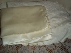 Items similar to 3 pc Ivory Matelasse pillow shams Standard Size With one satin pillowcase, bed dressing.Was on Etsy Pillow Shams, Pillow Cases, Pillows, Satin Bedding, How To Dress A Bed, Satin Pillowcase, Ivory, Trending Outfits, Unique Jewelry