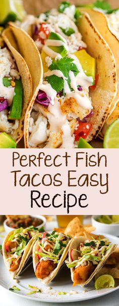 Classic fish tacos are something we all need to be good at. This is our perfect recipe: Fish - we use cod, but different types of chips work - soaked in a mixture of lime juice, chili powder, and cumin which will become your standard. (Seriously, steak or Fish Recipes, Seafood Recipes, Mexican Food Recipes, Dinner Recipes, Cooking Recipes, Healthy Recipes, Chicken Taco Recipes, Recipies, Cod Fish Tacos