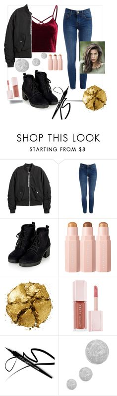 """""""Crushing on velvet 😍"""" by mcxn on Polyvore featuring H&M, Pat McGrath, Puma and Topshop"""