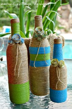 Cameo Cottage Designs: Recycled Wine Bottles for Moms New Lake House