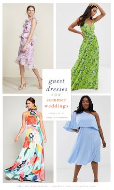 The best summer dresses to wear to summer weddings. Summer wedding guest dresses for 2019 wedding season.  #weddingguest #summerwedding #weddingoutfits #whattoweartoawedding #dressforthewedding #dressforwedding  #weddingguestdress #weddingguest dresses #dresses Wedding Guest Dresses Uk, Beach Wedding Guest Attire, Summer Wedding Attire, Wedding Outfits For Women, Dresses To Wear To A Wedding, Summer Weddings, Dress Wedding, Summer Dresses, Dresses Dresses