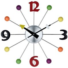 AmazonSmile - LexMod Juggler Ball Clock - Wall Clocks