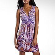 Unity World Wear® Print V-Neck Dress with Applique