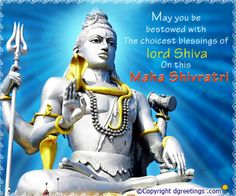 Send warm wishes and blessings on the occasion of Maha Shivaratri. Lord Shiva, Blessings, Wish, Blessed, Shiva