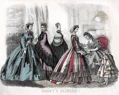 Godey's Fashion plate for May 1864