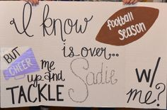 Football and Cheer-Sadie Hawkins Asking