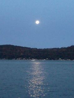 Moonrise over the Hawkesbury River.N.S.W,Aust.