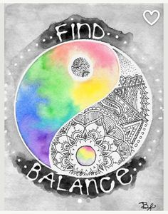 Creating and maintaining daily discipline leads to a balanced life.    --- von BrietronArt on Etsy