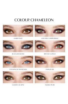 Charlotte Tilbury 'Color Chameleon' Color Morphing Eyeshadow Pencil in Amethyst Aphrodisiac availabl. Eye Makeup Steps, Eye Makeup Art, Eyebrow Makeup, Makeup Inspo, Makeup Inspiration, Makeup Tips, Beauty Makeup, Hazel Eye Makeup, Hazel Eyes