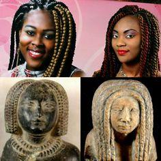 Box braids in Ancient egypt,Box braids today
