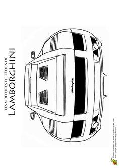 Coloriage De L Arrière D Une Lamborghini