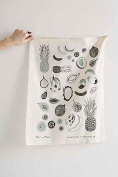 Nell & Mary Tropical Fruit Tea Towel