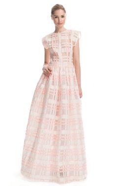 Shop Lorry Newhouse Windowpane Confetti Evening Dress at Moda Operandi