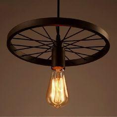 Loft Creative Pendentif Lumières Personnalité Rétro Restaurant/Bar Lampes Américain Industrielle Roue Pendentif lampe Vintage Déco Éclairage dans Lampes Suspendues de Lumières et Éclairage sur AliExpress.com | Alibaba Group