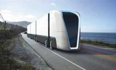 lkw Futuristic City, Futuristic Design, Futuristic Vehicles, Ev Truck, Train Truck, Transportation Technology, Future Transportation, Truck Transport, Top Luxury Cars