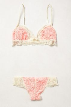 Eberjey Laced Coral Set from Anthropologie
