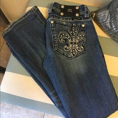 """Miss Me distressed jeans Very well taken care of Miss Me distressed jeans. They are hymned to about 30"""" inseam. Original inseam used. Miss Me Jeans Boot Cut"""