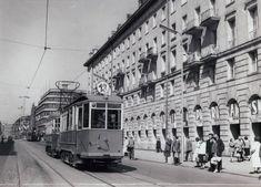 """Tramwaj linii """"13"""" na ul. Świdnickiej.1955"""