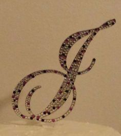 6 Crystal Monogram Cake Topper Acrylic Free by iCreateToppers, $75.00