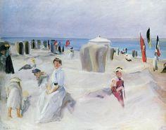 At the beach of Nordwijk, by Max Liebermann