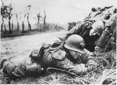 Medics were the most popular, respected and appreciated men in the company. Their weapons were first aid kits; their place on the line was whenever a man called out when he was wounded.  Two combat medics somewhere in Ardennes during the Battle of the Bulge