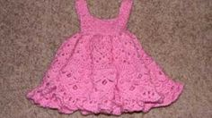 How To Crochet Baby Dress: Pleated Little Sweetie Dress - YouTube