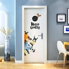 Love Family Hello Lovely Dog Mob PVC Wall Decal Home Decor Door Sticker  Price: 9.59 & FREE Shipping  #pets #dog #doglovergifts