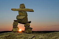 Inukshuks are a beautiful means of showing you the way.
