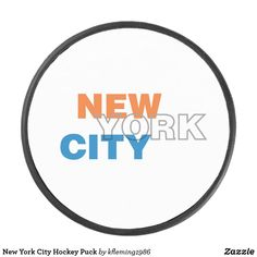 Shop New York City Hockey Puck created by Personalize it with photos & text or purchase as is! Hockey Gear, Hockey Puck, A Team, New York City, New York, Nyc