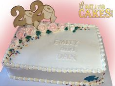 For all the weddings that should've been. But will be next year! #2021wedding #cheerstonextyear #makeawishcakes New Year's Cake, Study Design, Sheet Cakes, Make A Wish, Custom Cakes, Yummy Cakes, How To Make Cake, Cake Decorating, Special Occasion