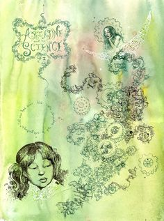 Molly Crabapple - Ariadne and the Science- Collaboration with Warren Ellis. $100.00, via Etsy.