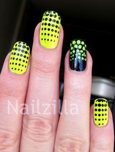 neon nail designs - Google Search