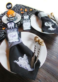 Ghost Baroque machine embroidery collection - haunt your home in style this fall