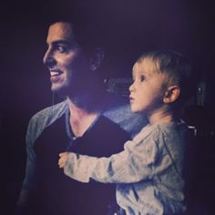 Jeremy Camp and his son watching Disciple