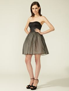 Strapless Fit and Flare Cocktail Dress by Vera Wang Lavender Label at Gilt