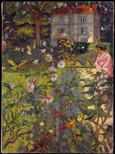 """Le jardin de Vaucresson"" Peinture de l'artiste français Edouard Vuillard 1920"