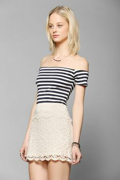 Coincidence & Chance Off-The Shoulder Cropped Top #urbanoutfitters